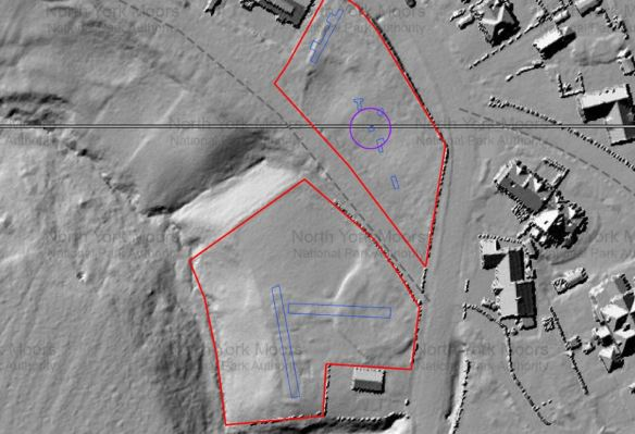 LiDAR image of Goathland Incline Site. Copyright NYMNPA.