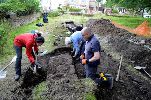 A snapshot of our Goathland dig volunteers in action, helping to uncover the enigmatic abandoned railway incline. Copyright NYMNPA.