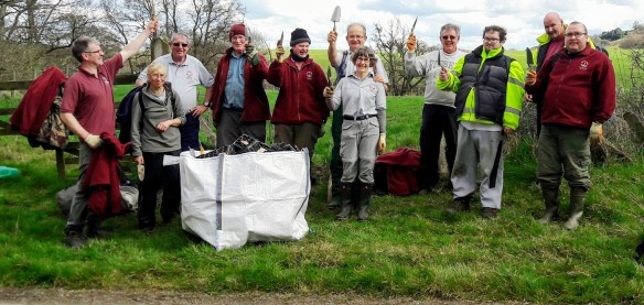 Volunteers after planting woodrush in the Esk Valley. Copyright NYMNPA.