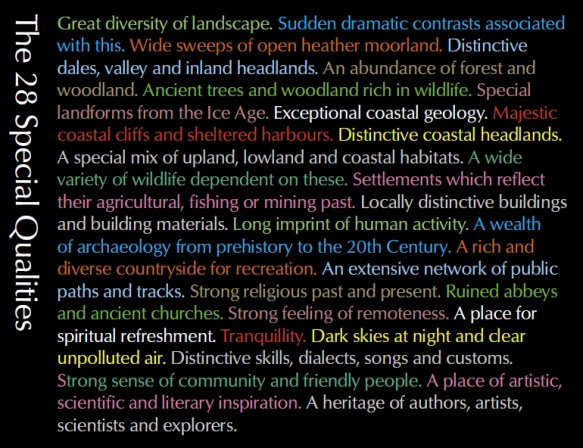 Special Qualities from the North York Moors Management Plan 2012