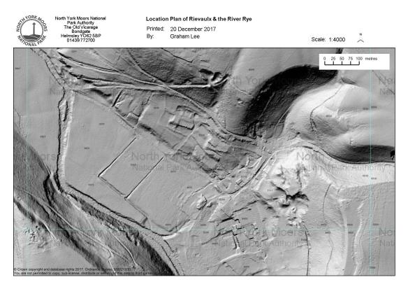 LiDAR - Rievaulx. Copyright Environment Agency.