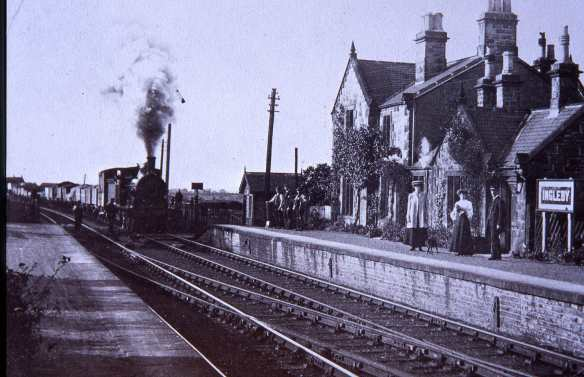 Early 20th Century photograph of Ingleby Station. Property of Malcolm Bisby.