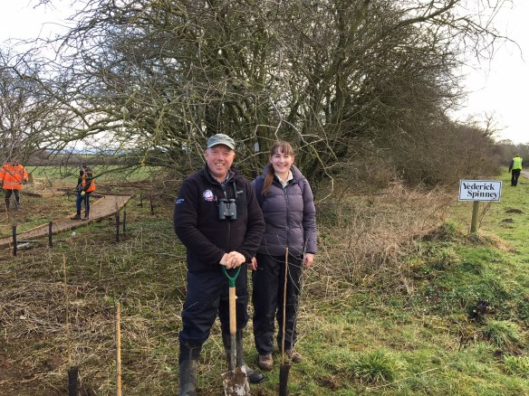 Richard and Katie, helping to create our first community reserve for Turtle Doves - Yederick Spinney, Sawdon. Copyright NYMNPA.