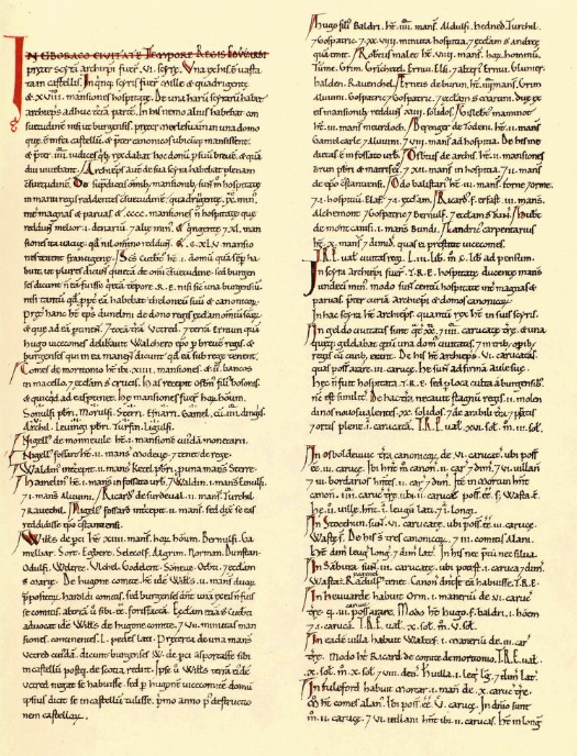Extract from The Domesday Book - https://archive.org/details/DomesdayBookYorkshire