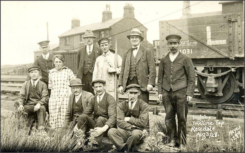 Railway at Ingleby Incline, group (D. Champion arcv)