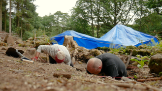 Combs Wood excavation, NPA Volunteers, July 2018. Copyright NYMNPA.