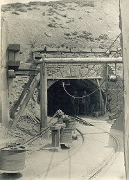 East Mines Entrance with miners circa 1900 photo T. Smith (D.C.)