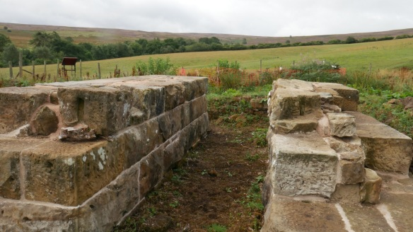 Warren Moor Mine engine bed - with new lime mortar. Copyright NYMNPA.