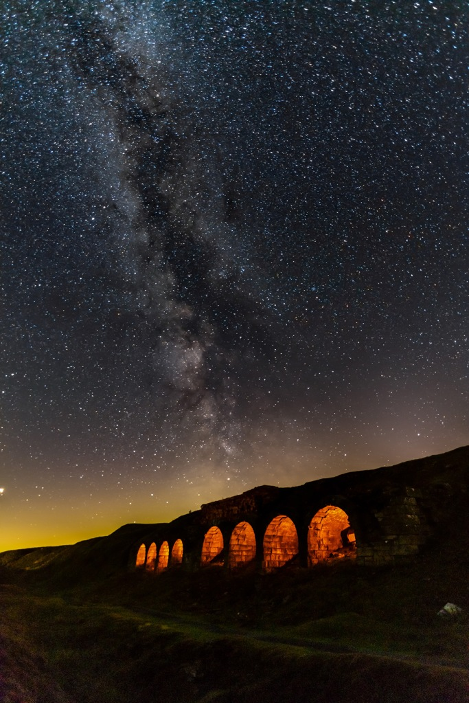 Rosedale Bank Top milky way. Copyright Tom Mutton.