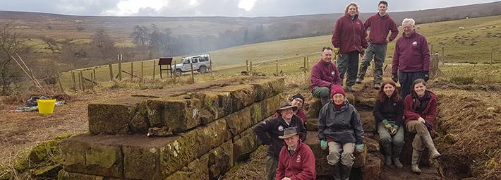 Warren Moor Mine volunteers, September 2018. Copyright NYMNPA.
