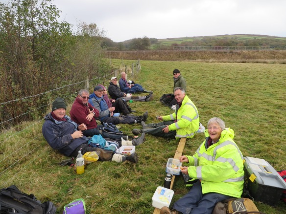 River Esk Volunteers, taking a well earned rest. Copyright NYMNPA.