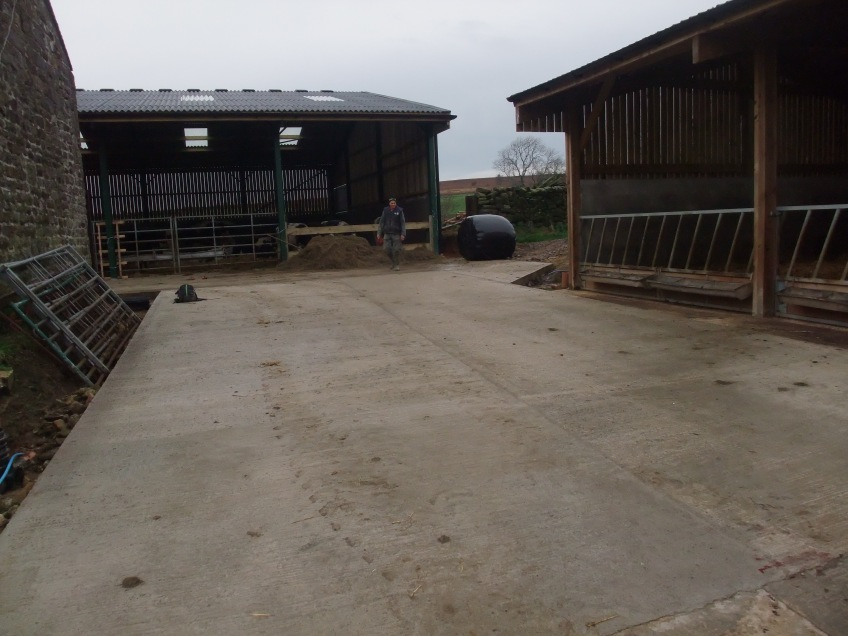 Concrete yard installed. Copyright NYMNPA.