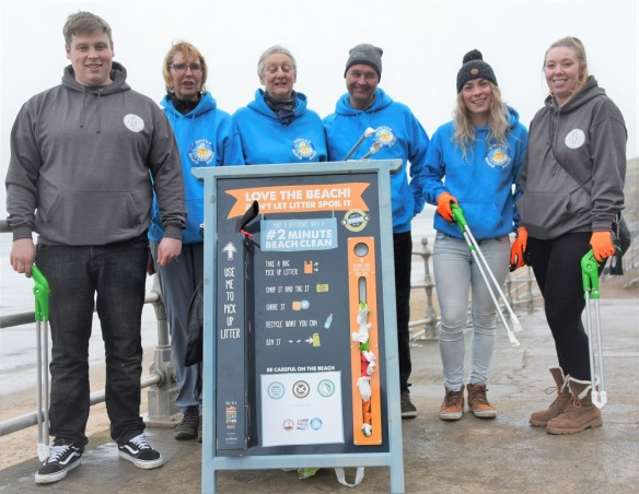Beach clean launch - Whitby Beach Sweep and Whitby Surf School. Copyright NYMNPA.
