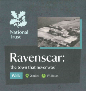 Image of front of National Trust leaflet - Ravenscar: 'the town that never was'