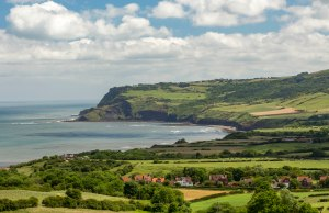 Ravenscar today - in the distance on top of the headland. Credit Ebor Images.