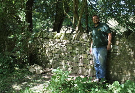 Drystone wall, Coxwold - after repair. Copyright NYMNPA.