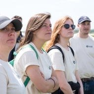 National Parks apprentice exchange 2019. Young apprentices being given a guided tour around St Benets Abbey, near Ludham. Picture: James Bass Photography