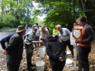 Riverfly monitoring training during Ryevitalise development phase. Copyright NYMNPA.