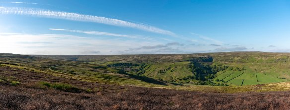 Rosedale Dale Head with railway route and water tower. Copyright NYMNPA.