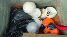 Inside the bin at Flamborough - copyright Ana Cowie, YWT