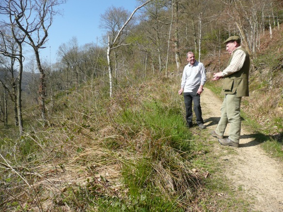 Levisham Estate - David Smith discussing land management. Copyright NYMNPA.