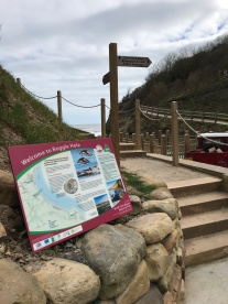 LEADER - Panel, Steps and Fingerpost - Cleveland Way. Copyright NYMNPA.