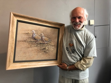 Alan Hunt ahead of the Turtle Dove Art Auction. Copyright NYMNPA.