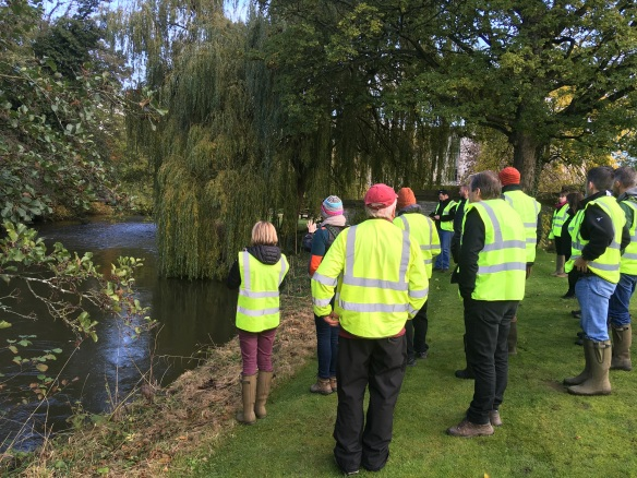 By the River Rye in Nunnington, FLO visit 30.10.19. Copyright NYMNPA.