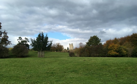 View from Duncombe Park looking back over Helmsley Castle. Copyright NYMNPA.