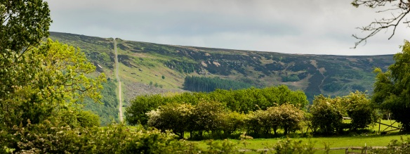 Landscape view of Ingleby Incline today. Copyright NYMNPA.
