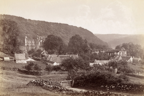 Old photographic image of Rievaulx.