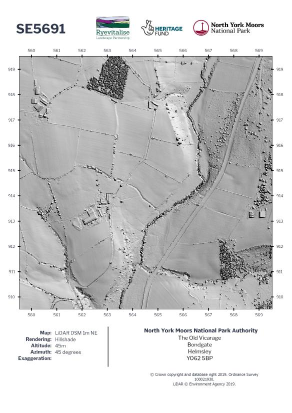 Example of a 1km LiDAR data grid square.