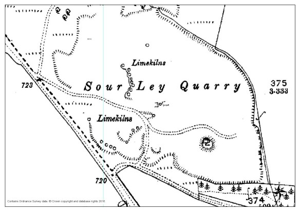 Extract from 1:2,500 Ordnance Survey Map 1893