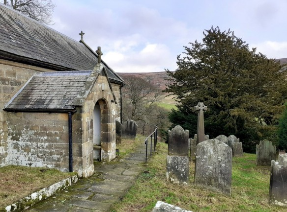 St Nicholas' Church, Bransdale, and its churchyard yew tree. Copyright Sam Newton, NYMNPA.
