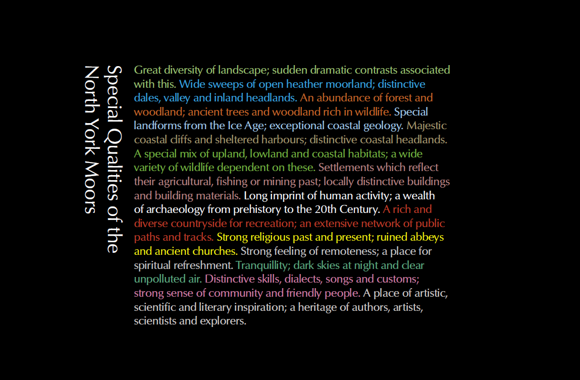 NYMNP Special Qualities (from 2012 Management Plan)