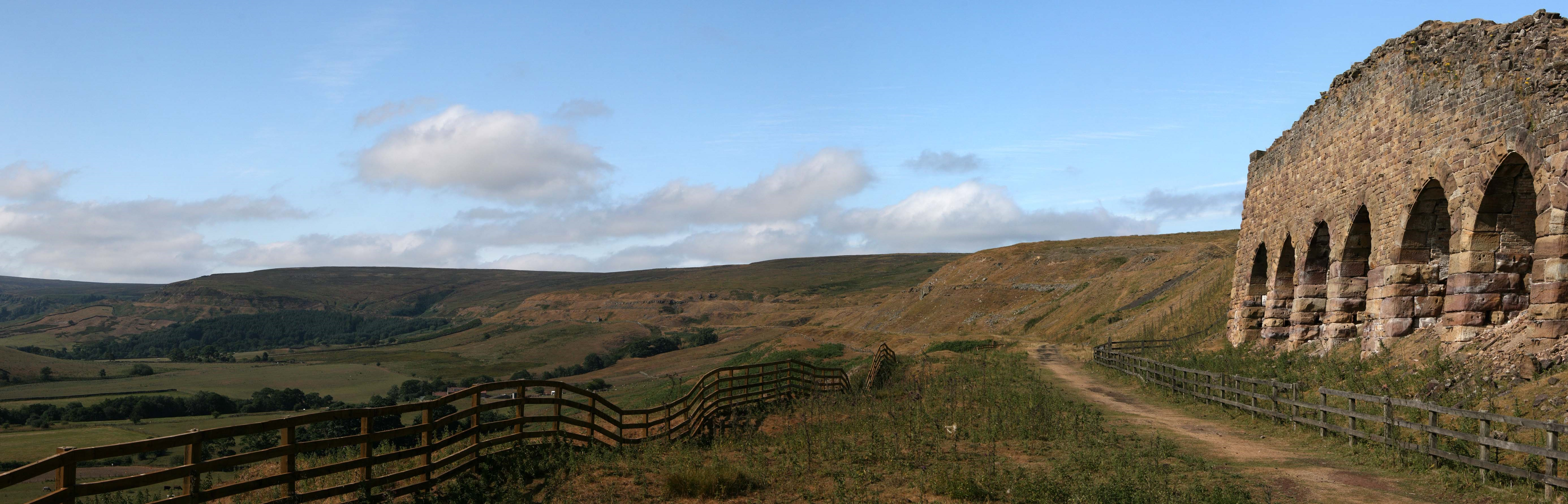 Rosedale East kilns with new fencing as a part of the Land of Iron project. Copyright NYMNPA.
