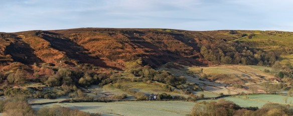 Rosedale Hollins Mine and incline, with Bank Top calcining kilns visible at top right. Copyright NYMNPA.