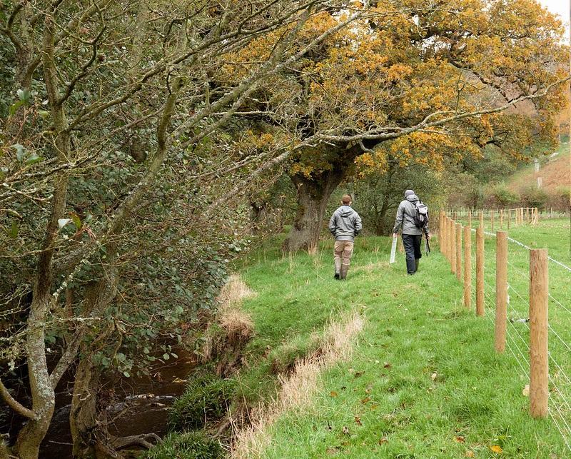 Chris Watt and Ryan Harvey Walking along the River Esk Credit Charlie Fox