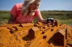 Land of Iron Landscape Partnership - Ingleby Incline cast model closeup