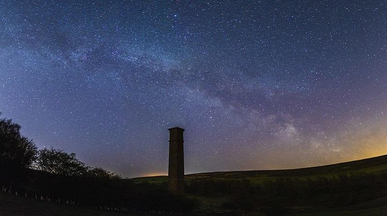 Milky Way above Warren Moor in the North York Moors National Park. Tom Mutton.
